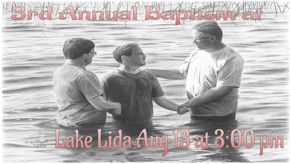 3rd Annual Baptism at Lake Lida